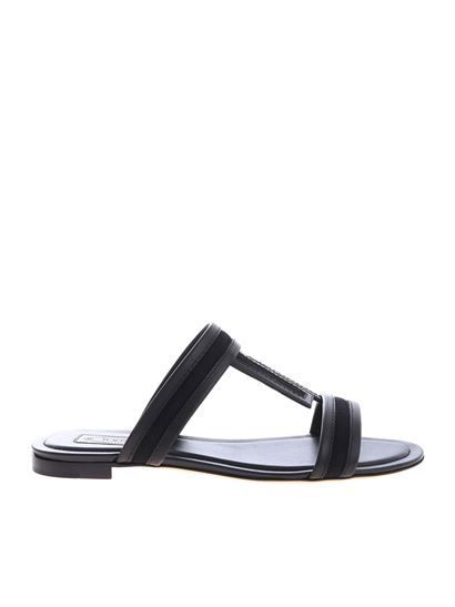 a73b75aa2 Tod's Carrie Over slippers in black leather - XXW37B0AT80KQ5B999