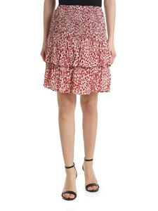 Baum Und Pferdgarten - Short skirt animalier print in beige and red