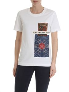 Philosophy di Lorenzo Serafini - T-shirt with vintage patches in white