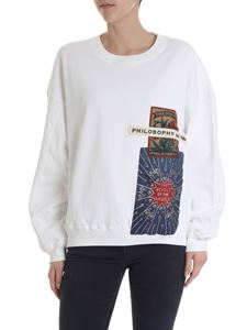 Philosophy di Lorenzo Serafini - Sweatshirt with vintage patches in white