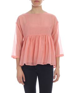 Semicouture - Pleated chiffon blouse in pink