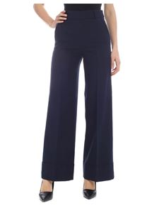 Incotex - Lehua palazzo trousers in dark blue