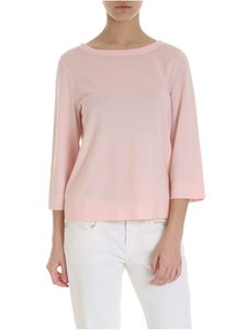 Zanone - Pink t-shirt with three-quarter sleeves