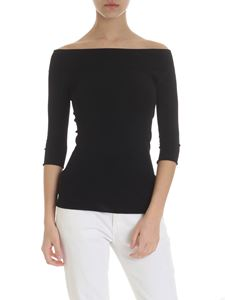 Zanone - Shoulderless t-shirt in black