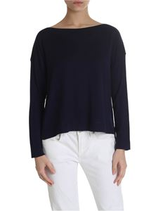 Zanone - Virgin wool top in blue