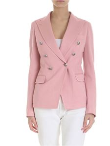Tagliatore - Alicya double-breasted jacket in pink