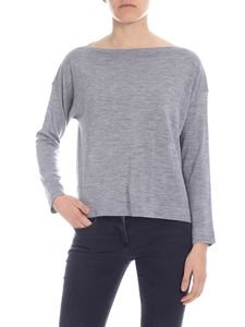 Zanone - Virgin wool top in melange gray