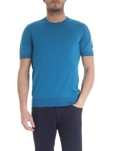 Paolo Pecora - Knitted t-shirt in turquoise color