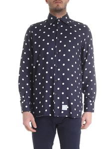 Department 5 - Polka dot shirt in blue and white