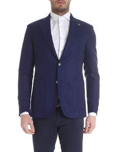 Tagliatore - Blue single-breasted jacket with two buttons
