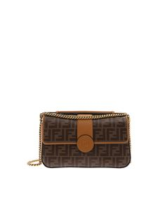 Fendi - Double F crossbody bag in brown