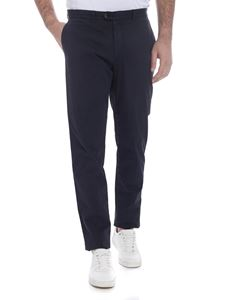 Fay - Stretch cotton trousers in blue