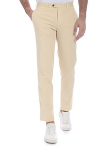 Fay - Stretch cotton trousers in light beige