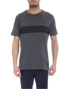 Fay - Printed T-shirt in melange grey