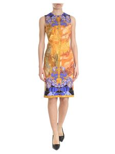 Versace Collection - Crewneck dress with multicolor print