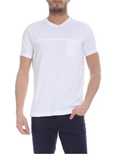 Fay - T-shirt with pocket in white