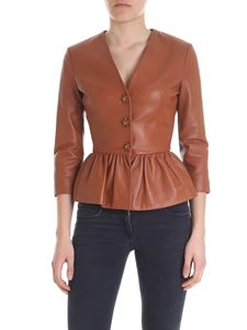 Elisabetta Franchi - Flounce jacket in brown