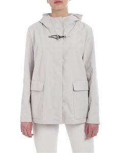Fay - Hooded jacket in ice white