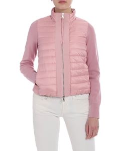 Moncler - Cardigan with down insert in pink