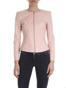 Liujo - Eco-leather jacket in powder pink
