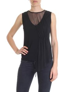 Liujo - Black top with tulle insert