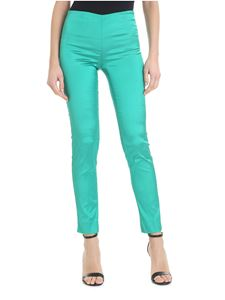Parosh - High-waisted green trousers