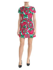 Parosh - Floral dress in fuchsia and green