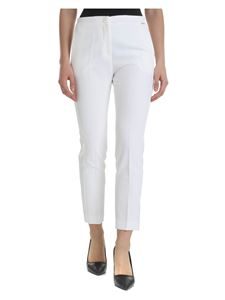 Liujo - Technical fabric trousers in white