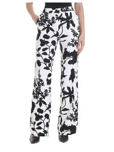 Liujo - Floral palazzo trousers in black and white