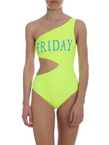 Alberta Ferretti - Friday swimsuit in neon yellow