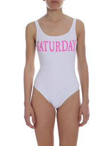 Alberta Ferretti - Saturday swimsuit in white
