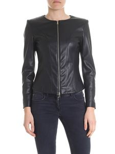 Liujo - Eco-leather jacket in black