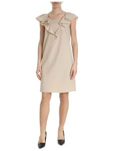 Moschino Boutique - Dress with ruffles in beige