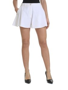 Moschino Boutique - Woven fabric shorts in white