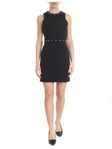 Versace Collection - Short black dress with studs