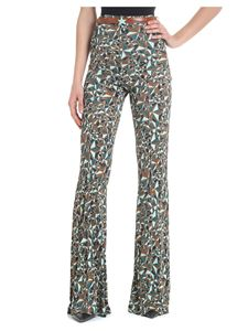 Elisabetta Franchi - Flared trousers with star print