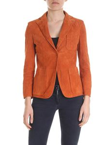 L'Autre Chose - Suede jacket in brick red