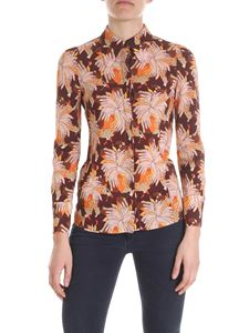 L'Autre Chose - Hands printed shirt in brown and pink