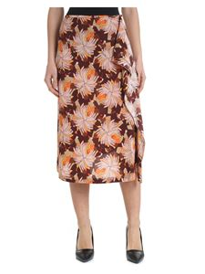 L'Autre Chose - Hands printed skirt with ruffles