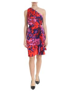 MSGM - Pleated dress in red and purple