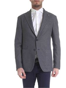 Tagliatore - Two-button jacket in blue and white
