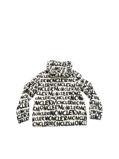 Moncler Jr - Hanoi jacket in cream colour and black