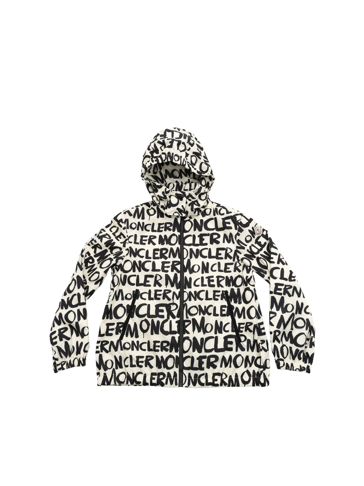 Moncler Jr Linings HANOI JACKET IN CREAM COLOUR AND BLACK