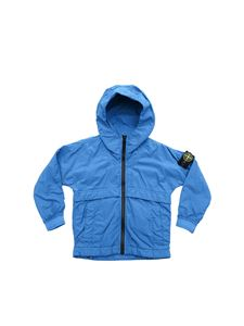 Stone Island Junior - Jacket with contrasting zip in teal blue