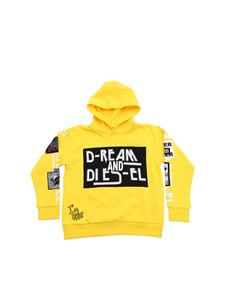 Diesel - Dream and Diesel hoodie in yellow