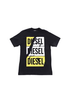 Diesel - T-shirt in black with Diesel print