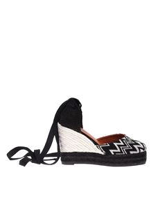 Castaner - Carina espadrilles sandals in black and white