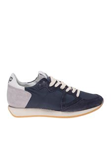 Philippe Model - Monaco Vintage sneakers in blue and grey