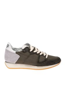 Philippe Model - Monaco Vintage sneakers in green and grey