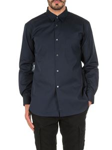 Comme Des Garçons Shirt  - Classic shirt in blue with single pocket